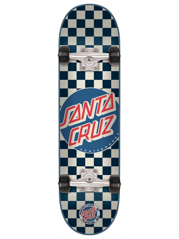 skate completo check dot blue