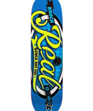 tabla skate real oval pro script justin brock