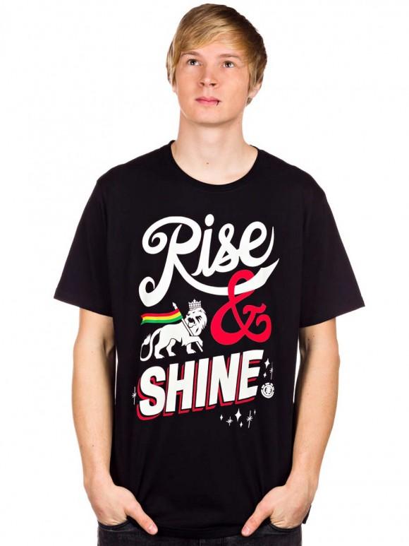 camiseta skate rise amp shine